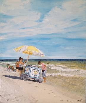 Oak Island Beach Scene by John Schuller