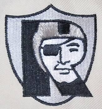 Oakland Raiders Crest by Donna Wilson