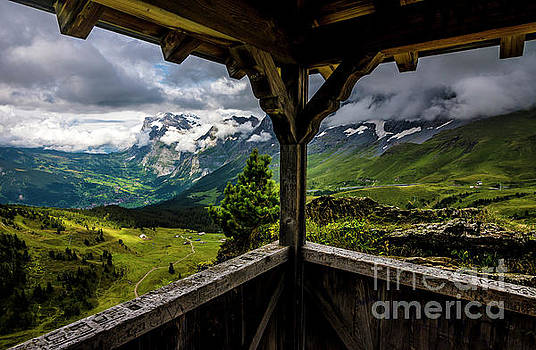 Observing the Grindelwald Valley and Swiss Alps by Gary Whitton
