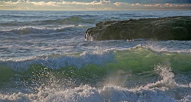 Crashing waves by Elvira Butler