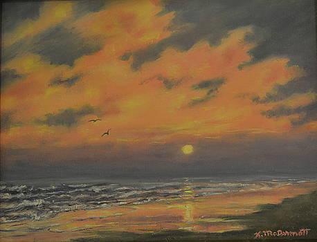 Ocean Sundown by Kathleen McDermott