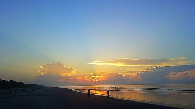 Ocean Sunrise  by Amanda Edwards