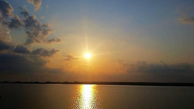Ocean sunset  by Amanda Edwards