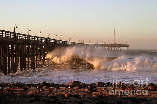 Ocean Wave Ventura Pier by Henrik Lehnerer