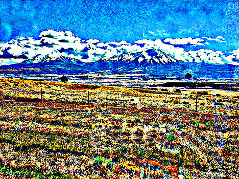 October Clouds Over Spanish Peaks by Anastasia Savage Ealy