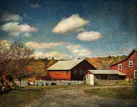 Pamela Phelps - October rising on the Barn