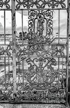 Odd Fellows Rest Gate-NOLA- BW by Kathleen K Parker