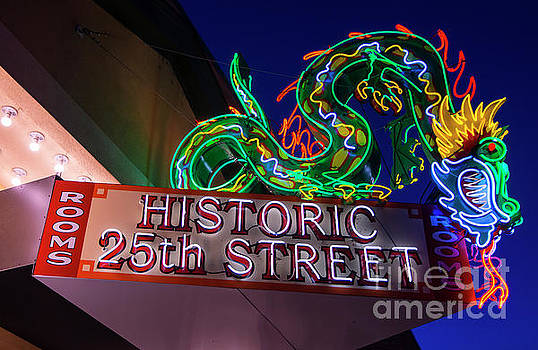 Ogden's Historic 25th Street Neon Dragon Sign by Gary Whitton
