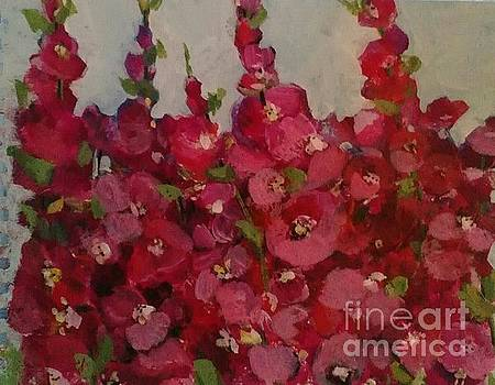 Oh My Hollyhocks by Sherry Harradence