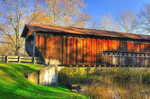 Ohio Country Roads - Benetka Road Covered Bridge Over the Ashtabula River - Ashtabula County by Michael Mazaika