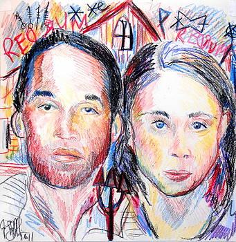 Jon Baldwin  Art - OJ and Casey An American Horror