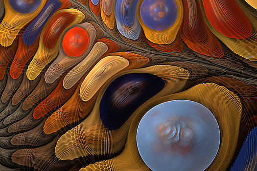 O'Keeffe's pebbles in a stream by Rick Chapman