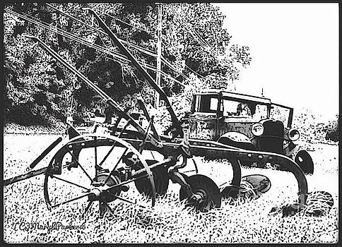 Old And Rusty in Black White by MaryLee Parker