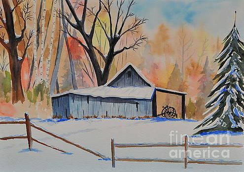 Old Barn II by John W Walker