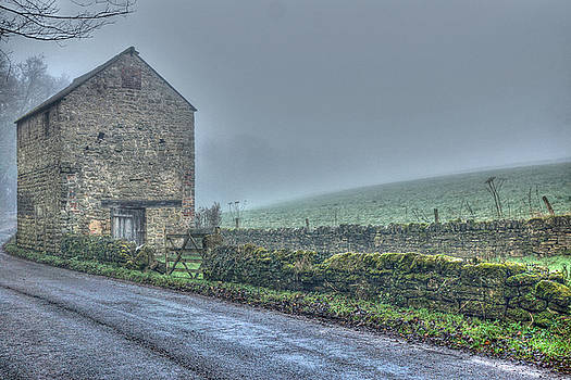 Old Barn on a Misty day by David Birchall