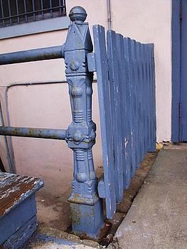 Old Blue Gate by Anna Villarreal Garbis