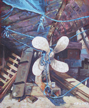 Old Boat Propeller by Martin Davey