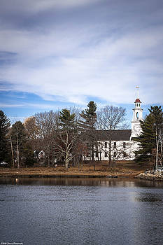 Old Church in Kennebunkport Maine  by Debra Forand