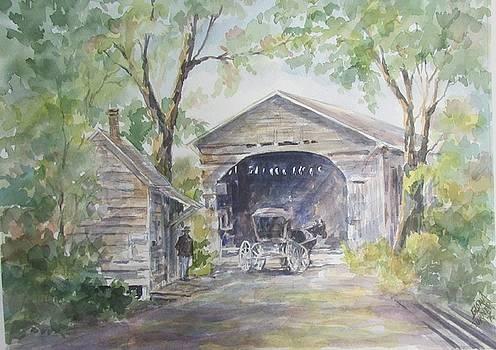 Old Cover Bridge at Pee Dee River by Gloria Turner