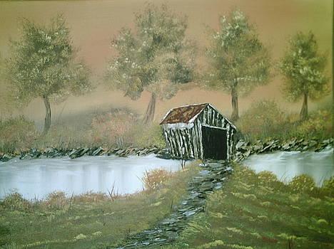 Old Covered Bridge by Jim Saltis