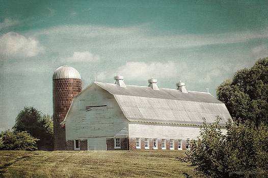 Old Dairy Barn and Silo by Melissa Bittinger