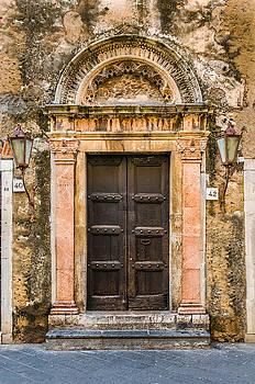 Old Door Taormina Sicily by Xavier Cardell