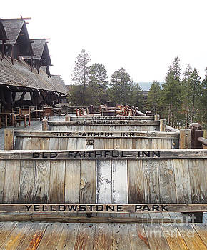 Old Faithful Inn Yellowstone National Park by Ann Johndro-Collins