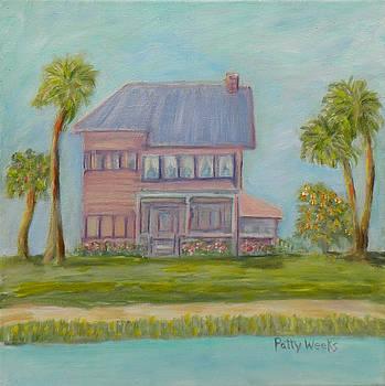 Old Florida Coastal Home by Patty Weeks