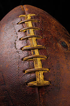 Old Football Close Up by Garry Gay