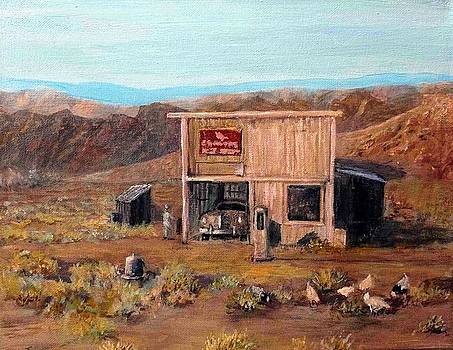 Old Gas Station by Judie White