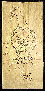 Old Goose by Radical Reconstruction Fine Art Featuring Nancy Wood