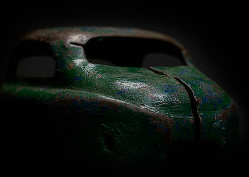 Art Whitton - Old Green Coupe Toy Car
