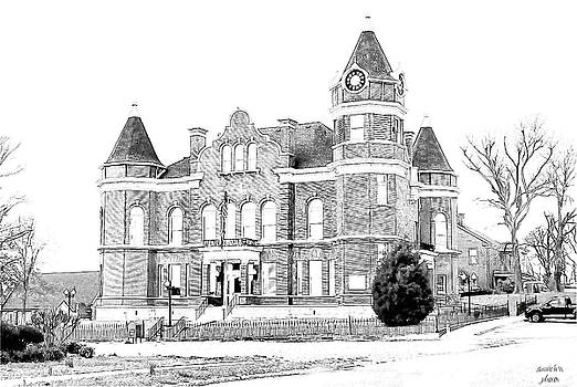 Old Hickman Ky Court House Digital drawing  by Bonnie Willis