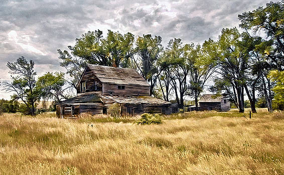 James Steele - Old House And Barn