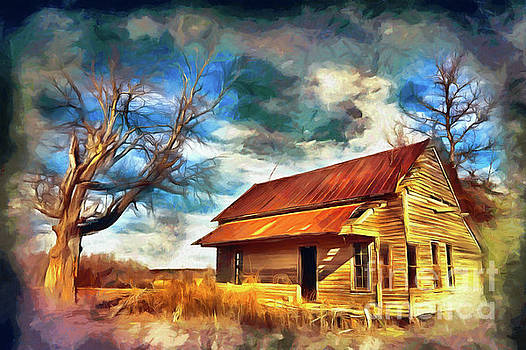 Old House and Dramatic Sky AP by Dan Carmichael