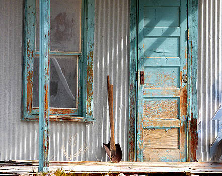 Old house With Shovel by Marcia Socolik
