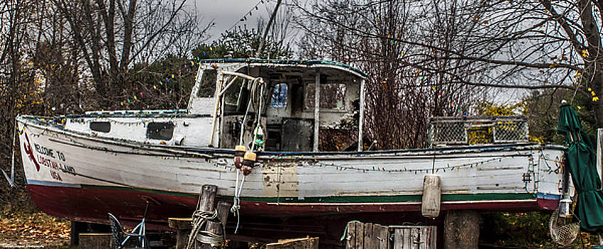 Old Lobster Boat 2 by Debra Forand