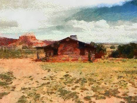 Old Log Cabin Ghost Ranch Abique NM by Joseph Frank Baraba