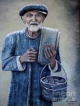 Old Man with His Stones by Judy Kirouac