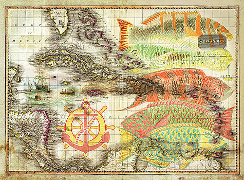 Debra and Dave Vanderlaan - Old Nautical Reef Map