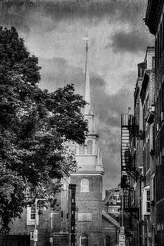 Old North Church Black and White - North End - Botson by Joann Vitali