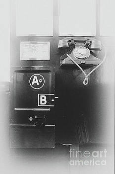 Old public telephone by Steev Stamford