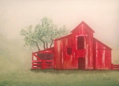 Old Red Barn by Justin Lee Williams