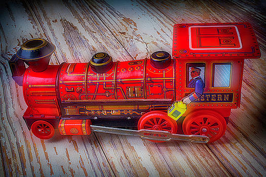 Old Red Toy Train by Garry Gay