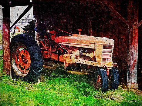 Old Red Tractor - Painting FX by Brian Wallace