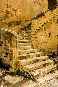 Old staircase Syracuse Sicily by Xavier Cardell