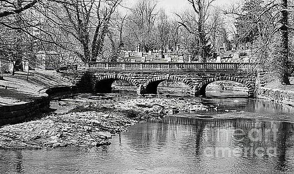 Old Stone Bridge in Black And White by Kathleen Struckle