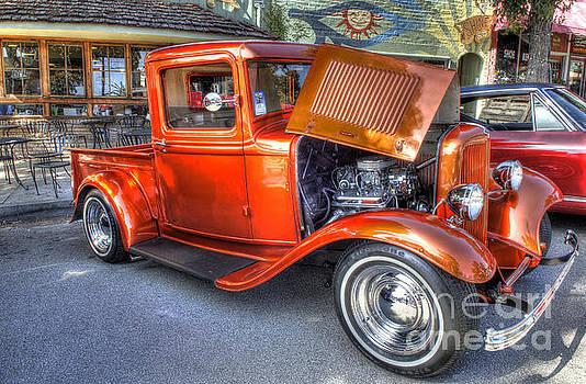 Old Timer Orange Truck by Matthew Hesser
