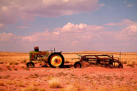 Old tractor and rake by Jeff Swan