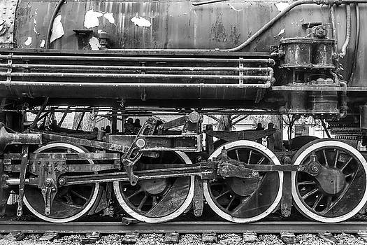 Old Train Wheels In Black And White by Garry Gay